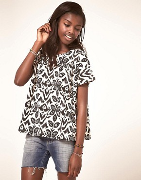 Image 1 ofASOS T-Shirt with Floral Ikat