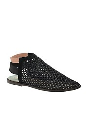 New Kid Elma Wrap Raffia Flat Strap Shoes