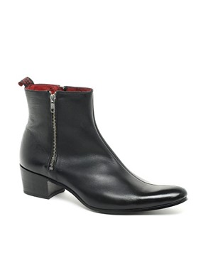 Image 1 ofJeffery West Muse Patent Side-Zip Cuban Heel Boots