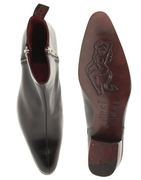 Image 3 ofJeffery West Muse Patent Side-Zip Cuban Heel Boots