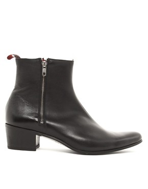 Image 4 ofJeffery West Muse Patent Side-Zip Cuban Heel Boots