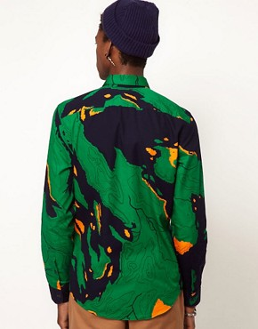 Image 2 ofLacoste Live Shirt Atlas Camo
