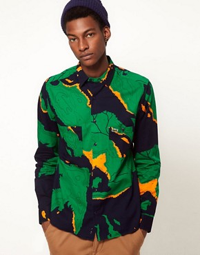 Image 1 ofLacoste Live Shirt Atlas Camo