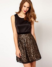 Karen Millen Sequin Sleeveless Dress