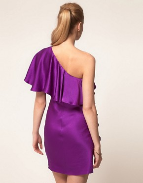 Image 2 ofHalston Heritage One Shoulder Ruffle Dress