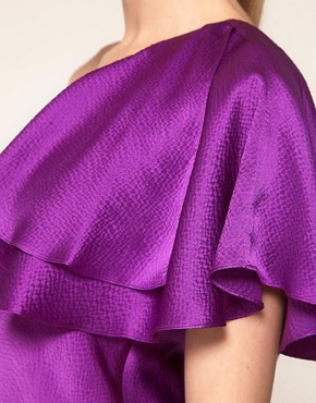 Image 3 ofHalston Heritage One Shoulder Ruffle Dress