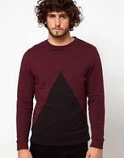 ASOS Sweatshirt With Triangle Insert