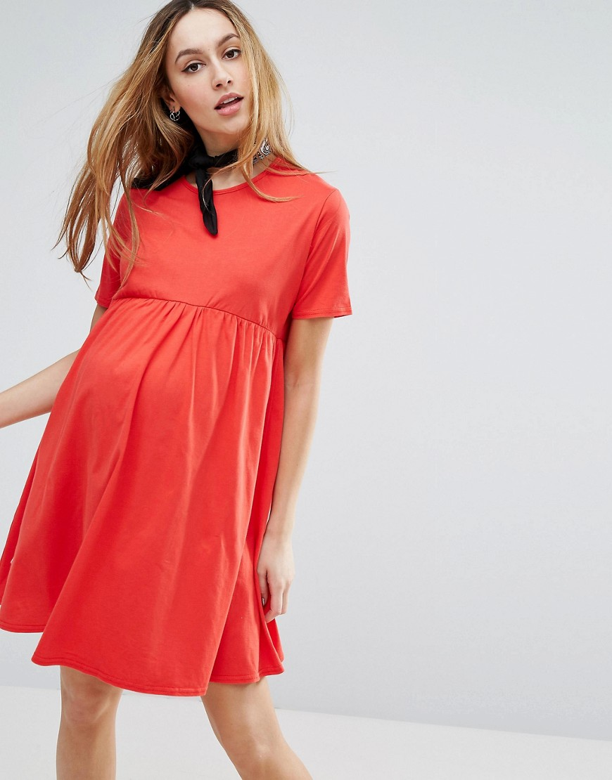 ASOS Maternity Ultimate Smock Dress - Red