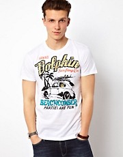 Solid T-Shirt With Dolphin Print