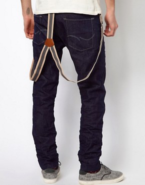 Image 2 ofJack &amp; Jones Tapered Jeans With Braces
