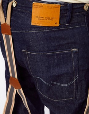 Image 3 ofJack &amp; Jones Tapered Jeans With Braces