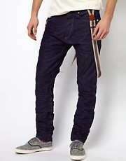 Jack & Jones - Jeans stretti in fondo con bretelle