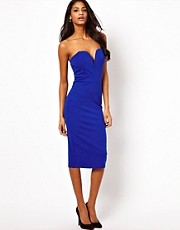 TFNC Midi Dress with Plunge Neck