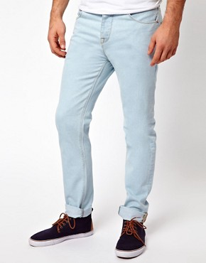 Image 1 ofASOS Slim Jeans Bleached