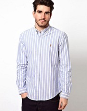 Polo Ralph Lauren Shirt in Slim Fit Oxford Stripe