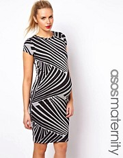 ASOS MATERNITY  Exklusives T-Shirt-Kleid mit Grafikdruck