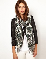 Warehouse Butterfly Print Scarf