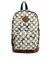 ASOS Backpack in Camo Spot Print