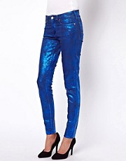 Vivienne Westwood Anglomania For Lee Metallic Skinny Jeans