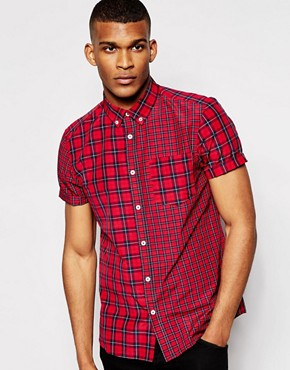 River Island Short Sleeve Check Shirt