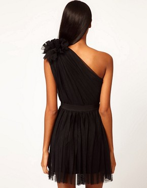 Image 2 ofASOS Pleated Dress with One-Shoulder