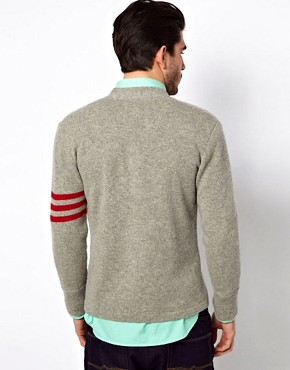 Image 2 ofGant Rugger Cardigan with Varsity Stripe Sleeve