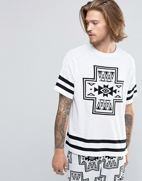 ASOS Knitted T-shirt with Aztec Design