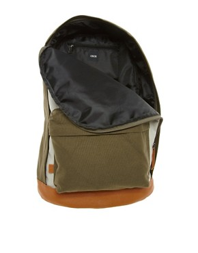 Image 2 of ASOS Contrast Canvas Backpack