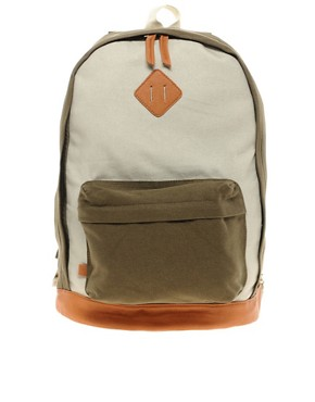 Image 1 of ASOS Contrast Canvas Backpack