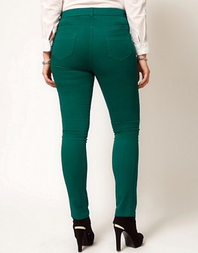 Image 2 ofASOS CURVE Exclusive Skinny In Green #4