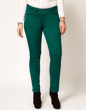 Image 4 ofASOS CURVE Exclusive Skinny In Green #4