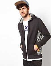 ASOS Hoodie With Aztec Printed Panels