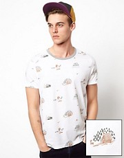 ASOS T-Shirt With All Over Yeti Print