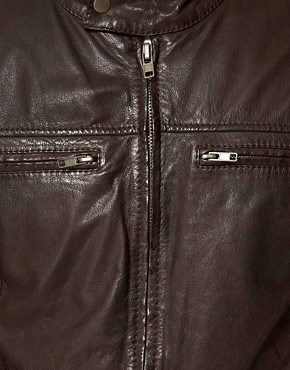 Image 3 ofEdwin Blitz Leather Biker Jacket