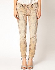 Current/Elliot Aztec Printed Skinny Jeans