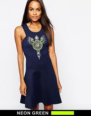 Closet Flare Dress with Embellishment