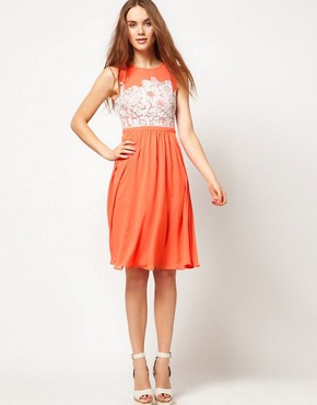 Image 1 ofWarehouse Embellished Bodice Dress