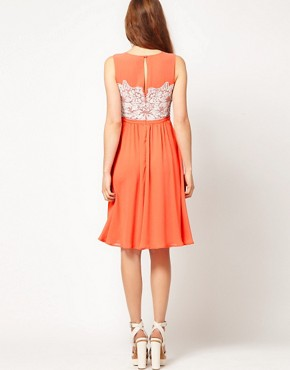Image 2 ofWarehouse Embellished Bodice Dress