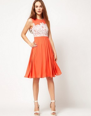 Image 4 ofWarehouse Embellished Bodice Dress