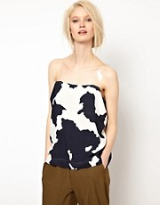Top con tirantes transparentes y estampado de vaca de BACK by Ann-Sofie Back