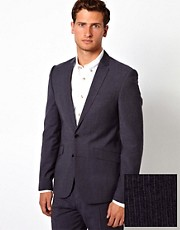 ASOS Slim Fit Suit Jacket in Stripe