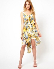 Love Floral Printed Hi Lo Dress
