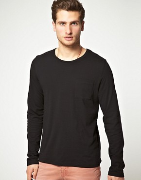 Image 1 ofASOS Long Sleeve Top With Pocket