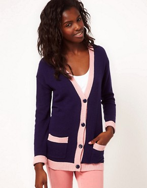Image 2 ofASOS PETITE Dollar Sign Cardigan