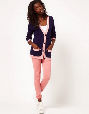 Image 4 ofASOS PETITE Dollar Sign Cardigan