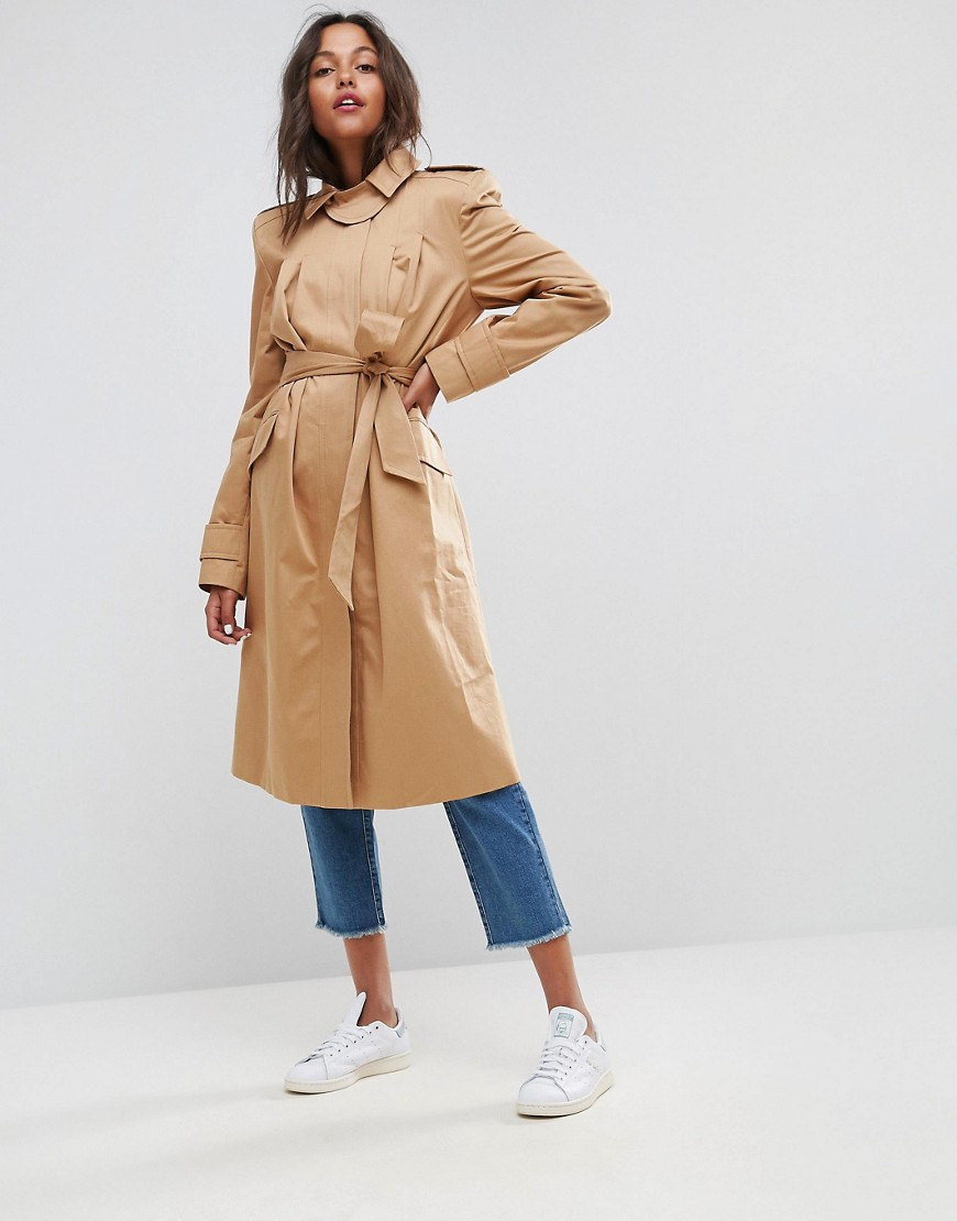 ASOS Mac with Extreme Statement Shoulder - Stone