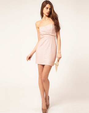 Image 4 ofTFNC Bandeau Sweetheart Sequin Dress