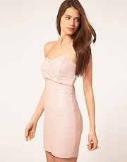 TFNC Bandeau Sweetheart Sequin Dress