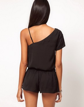 Image 2 ofASOS One Shoulder Playsuit