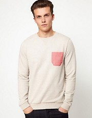 ASOS Sweatshirt With Oxford Pocket